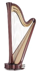 Daphne 47 EX Pedal Harp in Mahogany - In Stock