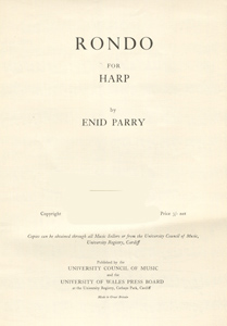 Rondo for Harp - Enid Parry
