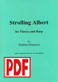 Strolling Albert for Flute and Harp - Download - Stephen Dunstone
