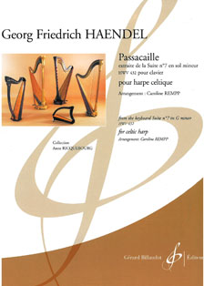 Passacaille From Suite No. 7 in G Minor HWV 432 - Arranged for Celtic Harp by Caroline Rempp