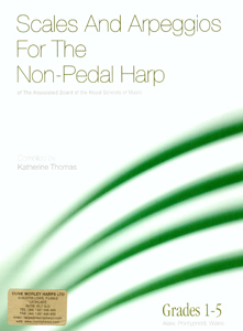 Scales & Arpeggios for the Non Pedal Harp Grades 1-5 - Katherine Thomas