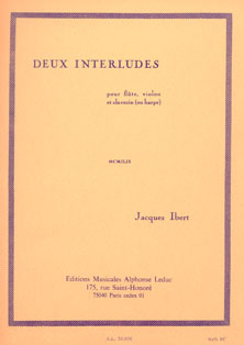 Deux Interludes for Flute, Violin, Clavichord or Harp - Jacques Ibert