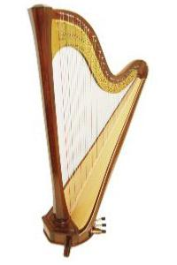 Amphion 47 Pedal Harp in Walnut - in Stock